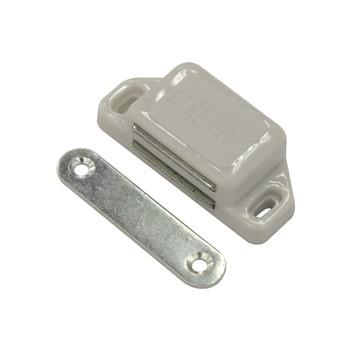 Магнит мебельный (L-60мм, h-15мм, белый)