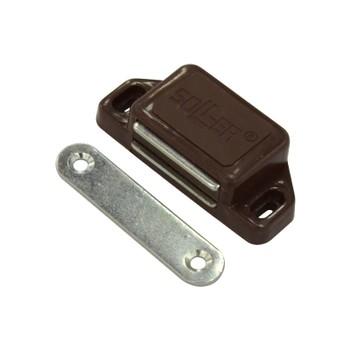 Магнит мебельный (L-60мм, h-15мм, коричневый)