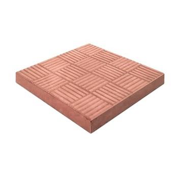 Плитка тротуарная Шахматы, 300х300х30мм красные