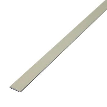 Штанга плоская 20х2 мм, алюминий люкс, 1м