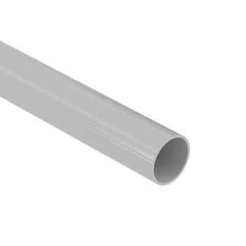Труба ПВХ жесткая d=16мм серая (2м)
