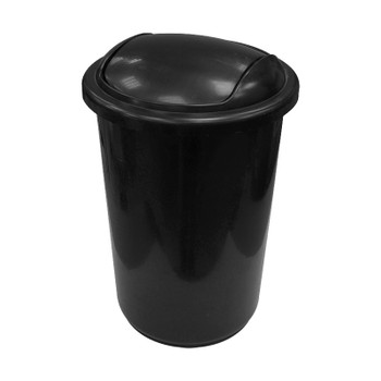Урна пласт, с крышкой-вертушкой, черный 12л