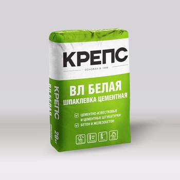 Шпатлевка Крепс ВЛ фасадная (белая), 20 кг