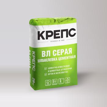 Шпатлевка Крепс ВЛ фасадная (серая), 20 кг