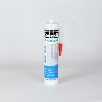 Затирка Ceresit CS25 эластичная силиконовая (прозрачная), 280 мл