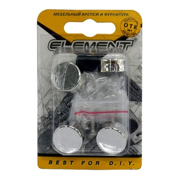 Зеркалодержатель d17мм мет+пласт.№ 1 хром (4 шт) Element