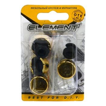 Зеркалодержатель d17мм мет+пласт.№ 2 золото (4 шт) Element