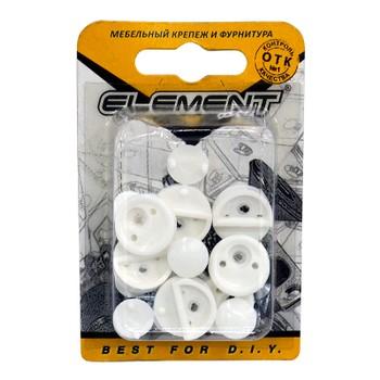 Зеркалодержатель пластиковый белый с шурупом (8 шт) Element