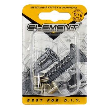 Полкодержатель Г-образный никель (4 шт) Element
