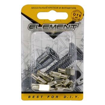 Полкодержатель лопаточка 5х17 никель (12 шт) Element