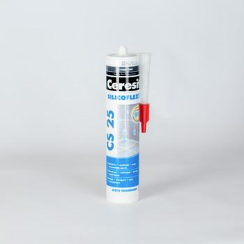 Затирка Ceresit CS25 эластичная силиконовая (графит), 280 мл