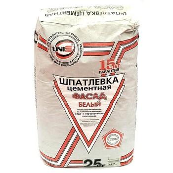 Шпатлевка Юнис Фасад (белая), 25 кг