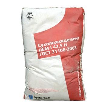 Цемент ЦЕМ I 42,5Н (ПЦ-500 Д0), Сухой Лог, 50кг (паллета 1,5 т)