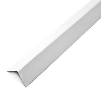 Профиль угловой алюминиевый 19х24 мм белый L=3 м