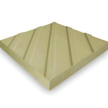Плитка тактильная диагональный риф 300х300х50 мм, желтая