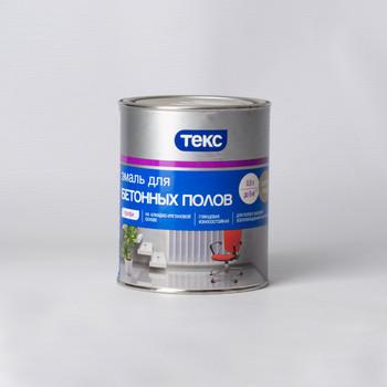 Эмаль для бетонных полов Текс светло-серая, 0,9л