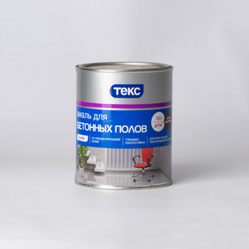 Эмаль для бетонных полов Текс красно-коричневая, 0,9л