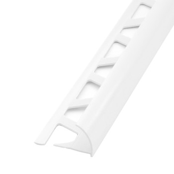 Раскладка под плитку 7-8 мм белая наружная 2,5 м