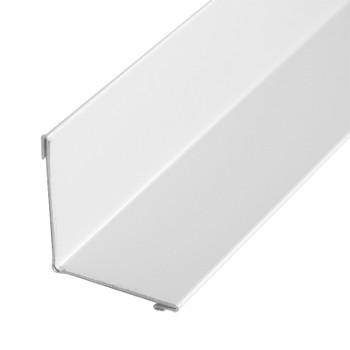 Планка угла внут. метал. (белый RAL 9003) 50х50х3000