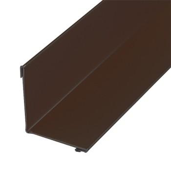 Планка угла внут. метал.(коричневый шоколад RAL 8017) 50х50х3000