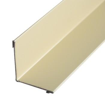 Планка угла внут. метал. (слоновая кость RAL 1014) 50х50х3000