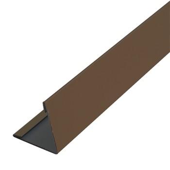 Планка угла наруж. метал. (коричневый шоколад RAL 8017) 50х50х3000