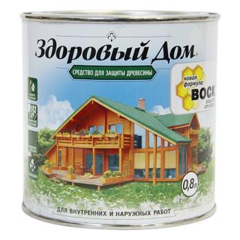 Пропитка для дерева Здоровый дом рябина, 0,8л