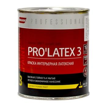 Краска PRO'LATEX 3 белая мат., 0,9л