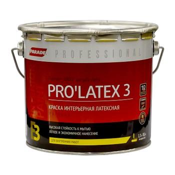 Краска PRO'LATEX 3 белая мат., 2,7л