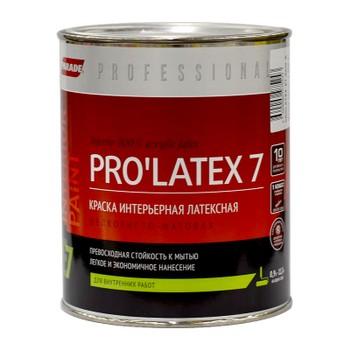 Краска PRO'LATEX 7 белая мат., 0,9л