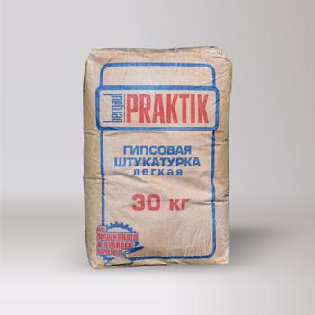Штукатурка Praktik гипсовая легкая белая, 30 кг