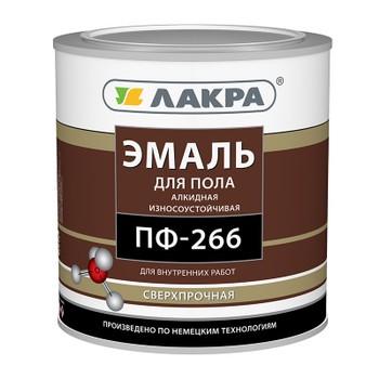 Эмаль ПФ-266 желто-коричневая (3кг) Лакра