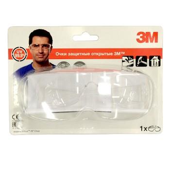 Очки защитные, прозрачные, 3М