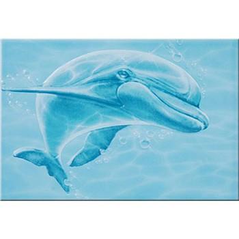 Декор 249х363мм Дельфин, дф606 Уралкерамика