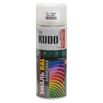 Эмаль аэрозольная белая KUDO RAL 9003 0,52л