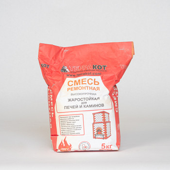 Ремонтная жаростойкая смесь для печей и каминов Терракот, 5 кг