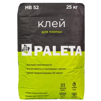 Клей для плитки и керамогранита Paleta MB-52, 25 кг