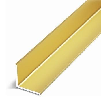Уголок равнополочный (УП06, 2000.502 л, золото люкс, 20х20х1,5 мм)