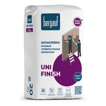 Шпатлевка Bergauf Uni Finish цементная (белая), 20 кг