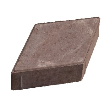 Брусчатка Ромб кирпичная на белом цементе (330х185х70мм)