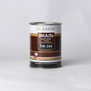 Эмаль ПФ-266 желто-коричневая (1кг) Лакра
