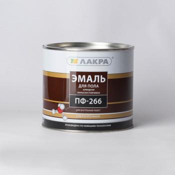 Эмаль ПФ-266 красно-коричневая (2кг) Лакра