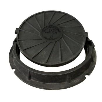 Люк ПП 630/770/600/40тип «Л»3 тн черный ГОСТ - 3634