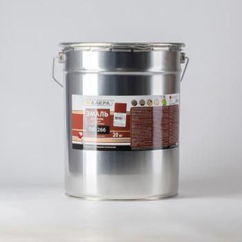 Эмаль ПФ-266 красно-коричневая (20кг) Лакра