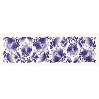 Декор Gzhel decor 01 100х300 Gracia Ceramica