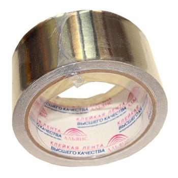 Клейкая лента АЛЬЯНС алюминиевая 50ммх10м