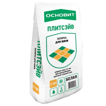Затирка Основит Плитсэйв Т-121, белая 010, 2 кг