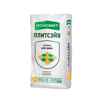 Затирка Основит Плитсэйв Т-121, белая 010, 20 кг