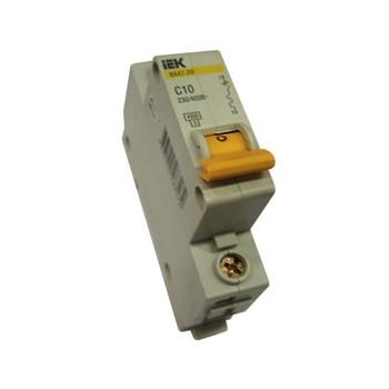 Авт. выключатель IEK 1-полюсной ВА 47-29, 10А (С)