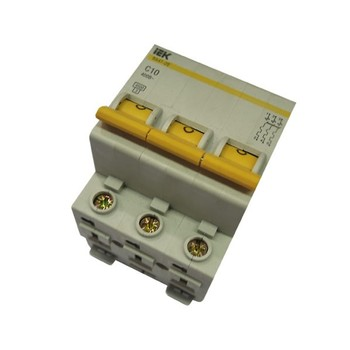 Авт. выключатель IEK 3-полюсной ВА 47-29, 10А (С)